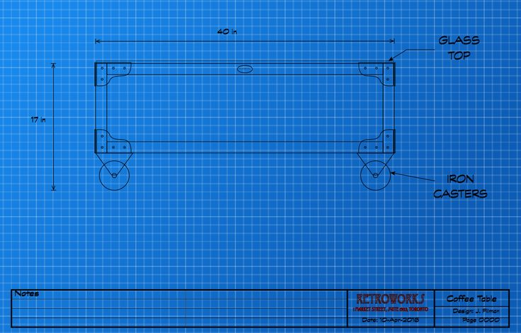 In Blueprint: industrial-style coffee table. retroworks.ca/blogs/news #industrialfurniture