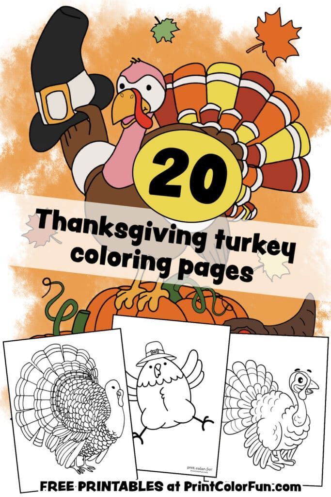 20 Terrific Thanksgiving Turkey Coloring Pages For Some Free