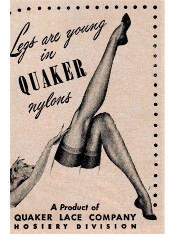 vintage stockings ads | quaker nylons 1948 ad 12