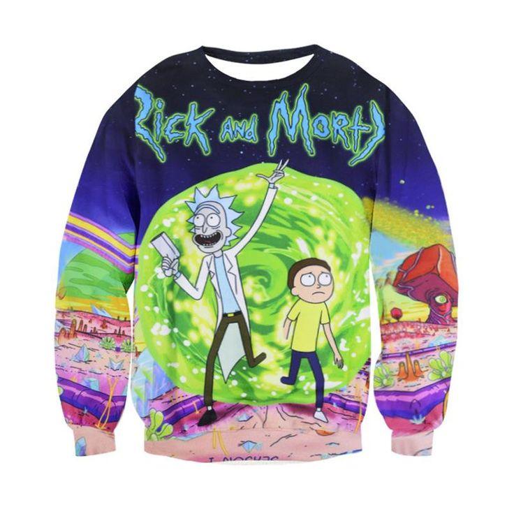 Rick and Morty Portal full print Sweatshirt