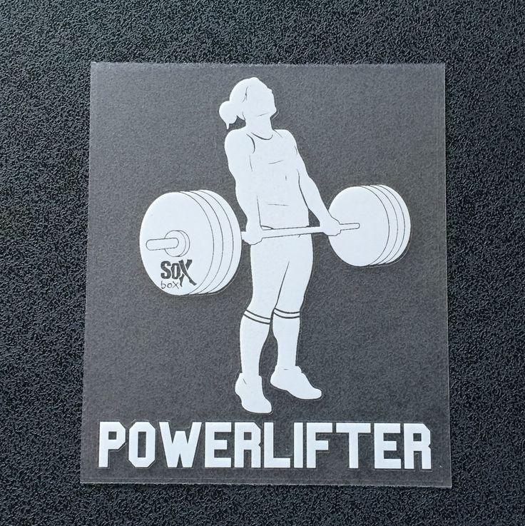 Powerlifter (Woman Deadlifting) Decal