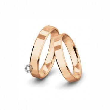Βέρες γάμου Saint Maurice Classic ροζ χρυσός πλάτους 4.5mm επίπεδες εξωτερικά & ανατομικές   Γαμήλιες βέρες Saint Maurice ΤΣΑΛΔΑΡΗΣ στο Χαλάνδρι #SaintMaurice #βερες #γαμου #χρυσος #rings