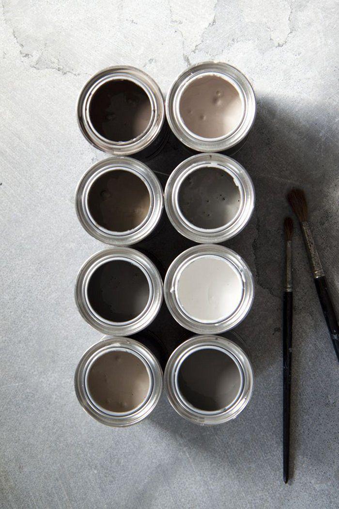 25 beste idee n over grijs beige verf op pinterest witte kozijnen populaire verfkleuren en - Donker mozaieken badkamer ...