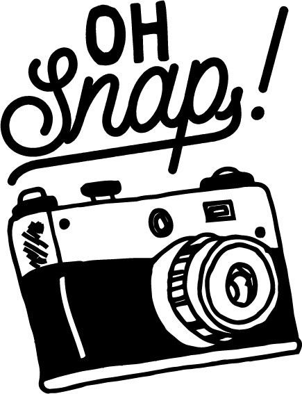 Oh Snap! Cute and Funny Camera Car Decal for Photographers