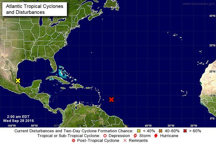 Océano Atlántico National Hurricane Center outlook