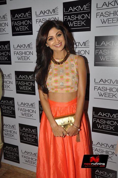 Shilpa Shetty At Lakme Fashion Week 2014