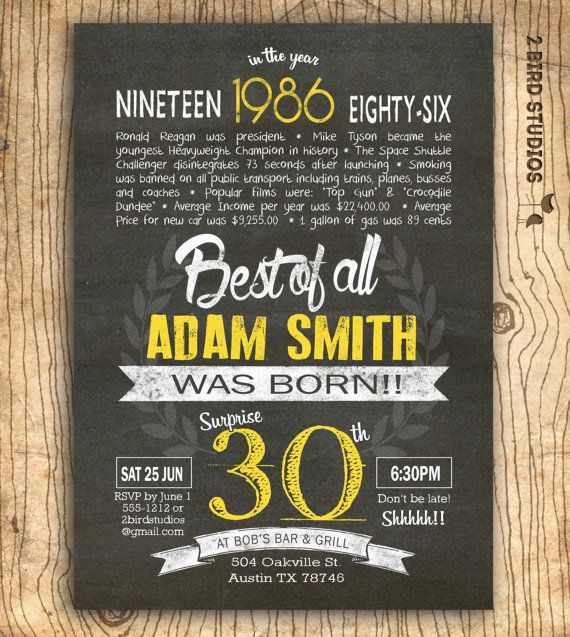 30th Birthday Invitation Surprise Invite