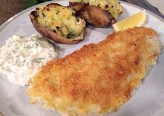 Pan Fried Haddock With Homemade Lighter Tartare Sauce