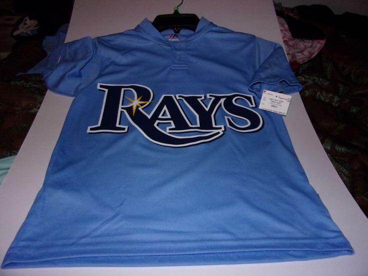 Majestic: Boys Small Size 8 Youth Tampa Bay Rays Baseball Jersey Shirt / New #Majestic #Everyday