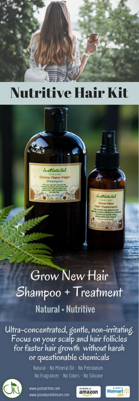Use these nutritive products in combination to achieve rapid thick, healthy hair growth