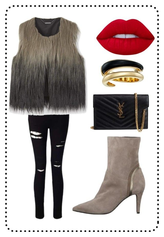 """Hviezda večera"" by nanohy on Polyvore featuring Miss Selfridge, Yves Saint Laurent, Lime Crime and Michael Kors"