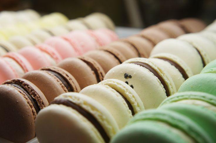French Macarons are made fresh daily in our Honolulu Coffee Pastry Kitchen. Yum!