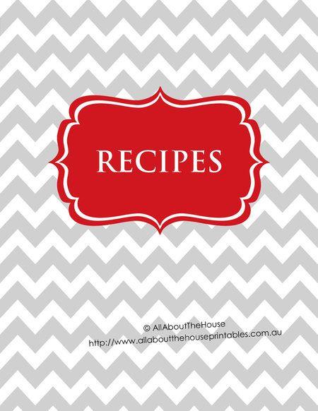 Printable Recipe Binder Cover Editable Recipe Sheet ...