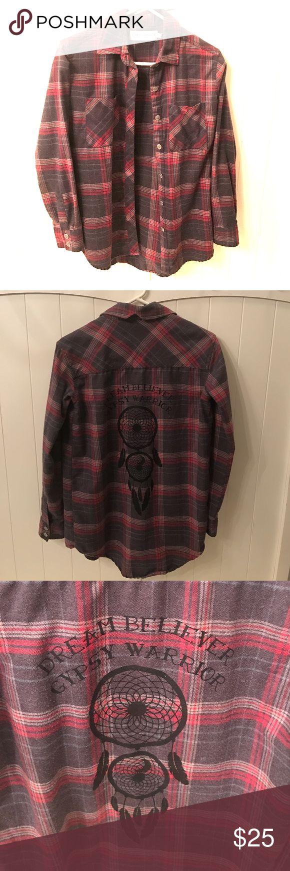 Gypsy Warrior Flannel Super comfy. No wear and tear! gypsy warrior Tops Button Down Shirts
