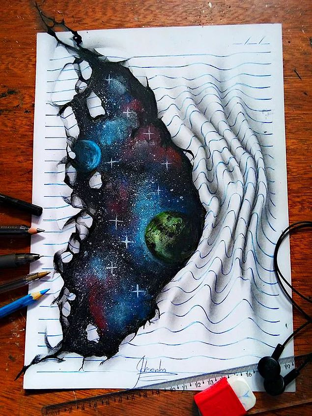 16 Yaşındaki Sanatçıdan Gözlerinizi ve Aklınızı Başınızdan Alacak Üç Boyutlu 16 Çizim