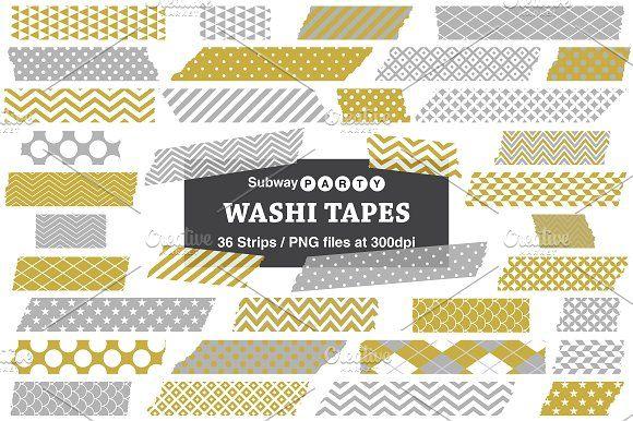 Gold Silver Gray Washi Tape Strips Washi Tape Halloween Washi Tape Washi