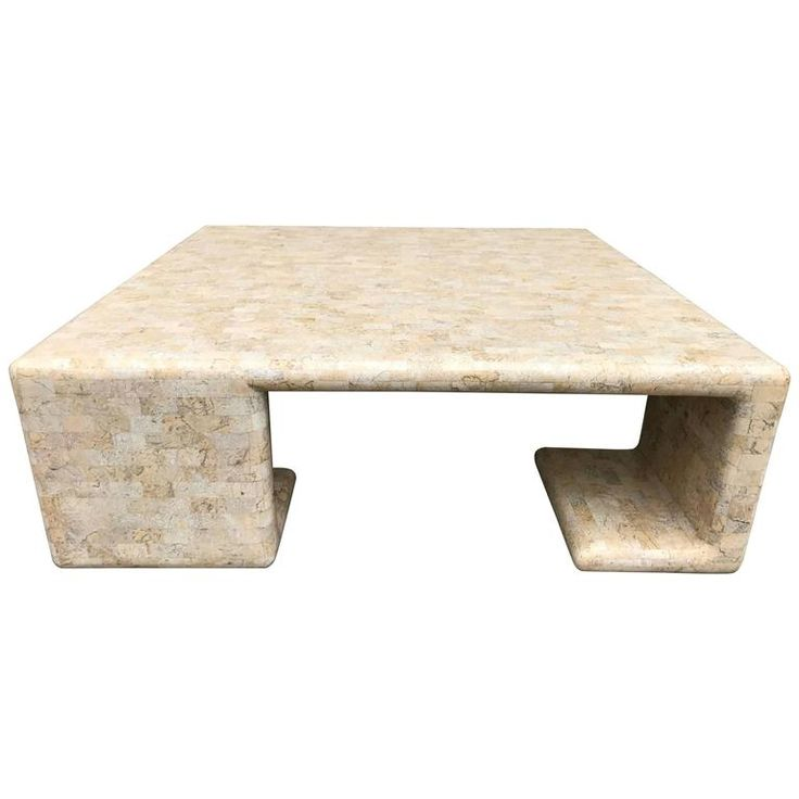 Impressive Tessellated Fossil Stone Tiled Coffee Table By Maitland Smith