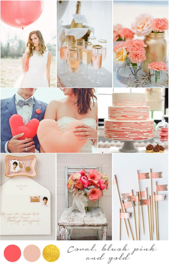 17 best images about coral blush wedding berlin and - Decoracion unas para boda ...