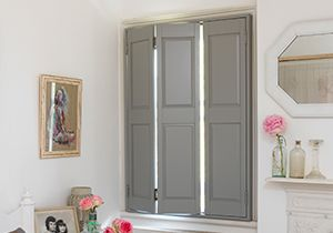 18 best images about shutters on pinterest plantation - Unfinished wood shutters interior ...
