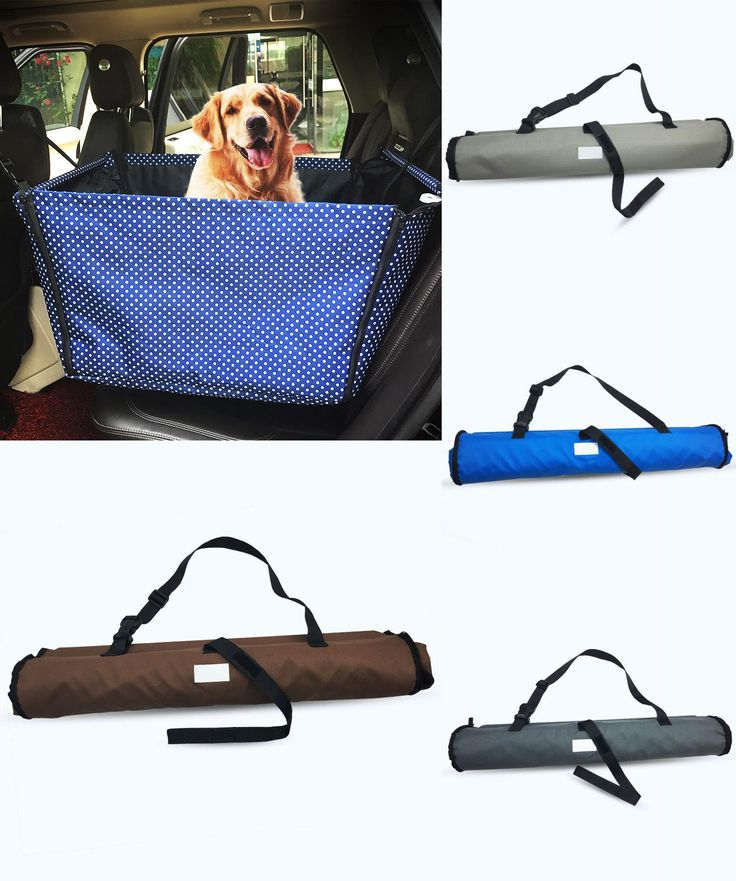 [Visit to Buy] Washable Double Layer Waterproof Pet Dog Cat Safe Safety Travel Hammock Car Bed Seat Cover Mat Blanket Blue/Gray/brown #Advertisement