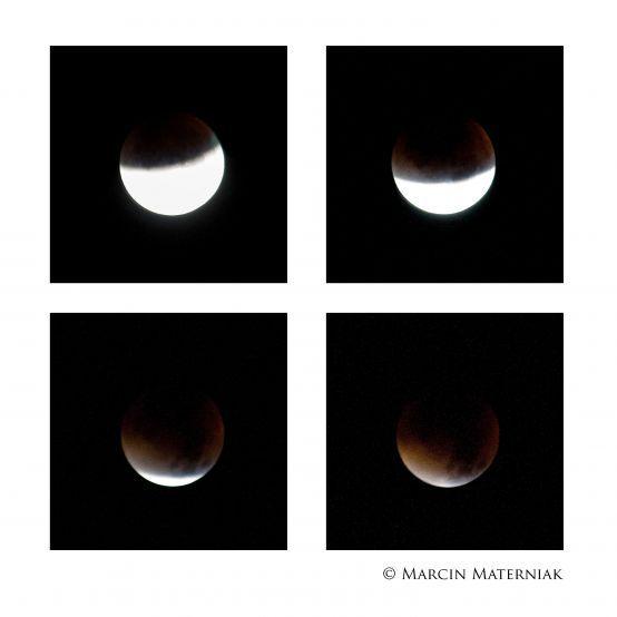 Superksiężyc – tak wyglądał u nas fot. Marcin Materniak #bloodmoon #zaćmienie