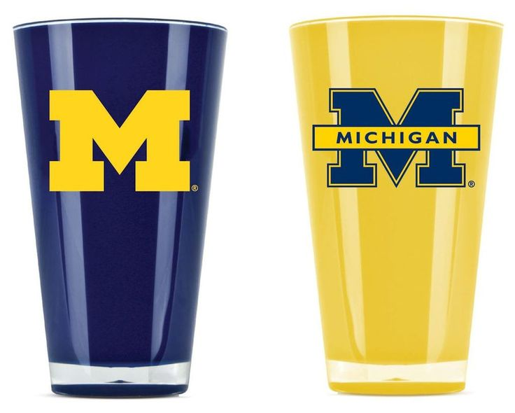 Wolverines NCAA 20 oz. Insulated Tumblers - 2 Pack Set