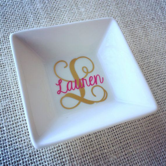 Ring Holder Personalized Ring Dish Monogram by CameoandCompany