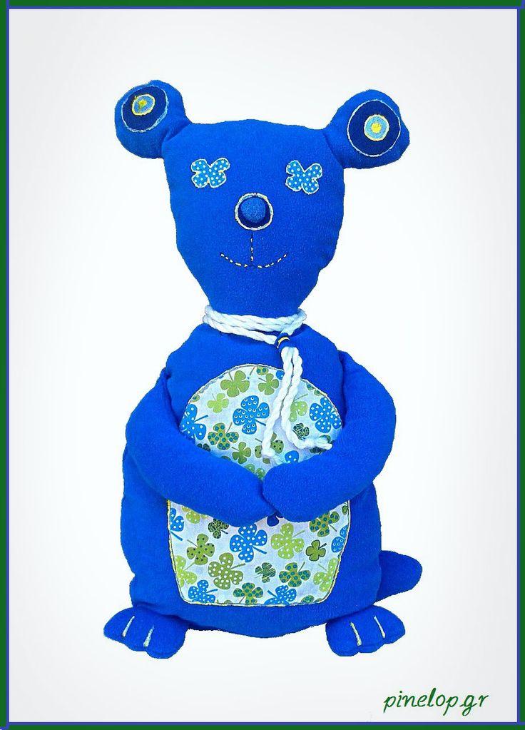 Handmade bear from fabric for our little friends!! www.pinelop.gr facebook.com/pinelopkallitexnimata