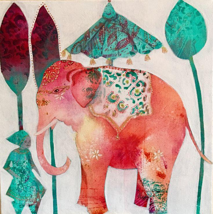 Elephant #1 acrylic on canvas