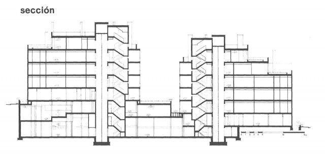 José Antonio Coderch > Edificio de viviendas del Banco Urquijo. 1967 | HIC Arquitectura | Bloglovin'