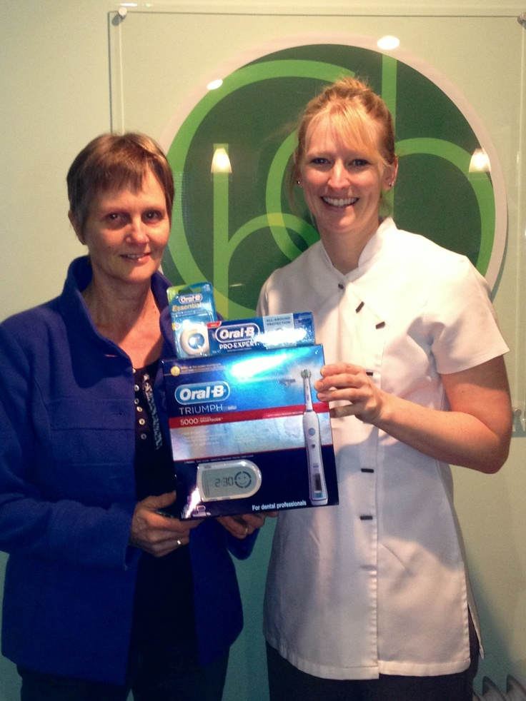 We were delighted to offer a Christmas prize in the www.ChooseCaversham.co.uk competition. It's a great website highlighting all the news and information about local businesses, schools, clubs and events.  Our winner was really pleased with her Oral B Triumph 5000 toothbrush and accessories!