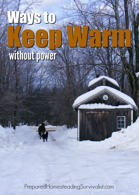 A winter storm is coming and it's going to be a doozy. You don't have a wood stove for heat. How will you keep yourself and your family warm without power? Prepared Homesteading Survivalist