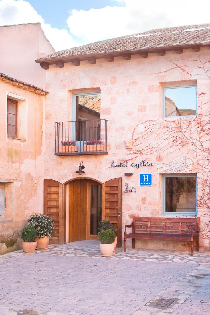 Small Hotel in Spain Combines Rustic and Contemporary Details - http://freshome.com/small-hotel-spain/
