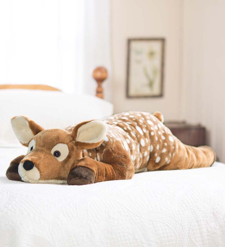 Animal Shaped Body Pillows : Fuzzy Spotted Fawn Body Pillow Gifts For Pets Things I NEED Pinterest Pets, Deer and ...