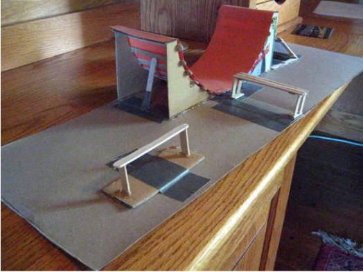 Homemade tech deck ramps