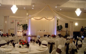 white n brown chair covers
