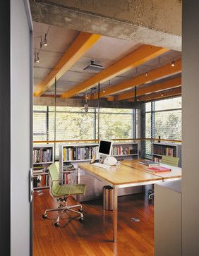 Glass House - industrial - home office - chicago - Thomas Roszak Architecture, LLC