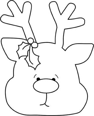 Great Reindeer Face Template Images 1369 Best Templates Images On