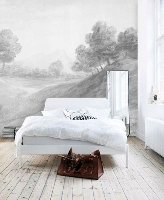 All'ombra di paesaggio decorazione murale carta da di anewalldecor