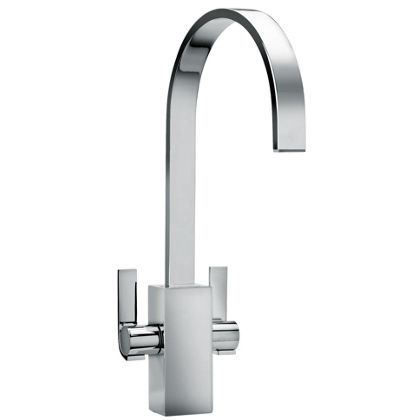Dax lever handles monobloc kitchen tap - single hole - Chrome finish at Homebase - £279