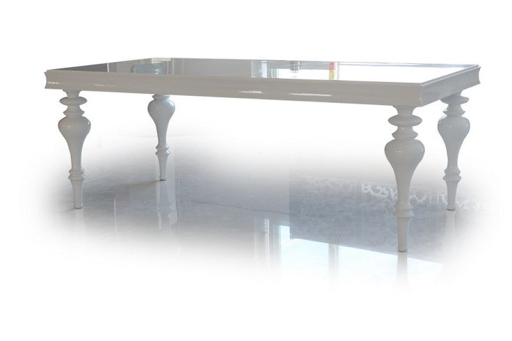 Versus Bella - White Lacquer Dining Table