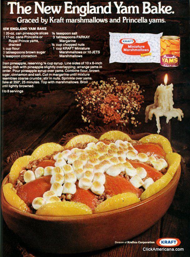 1975  New England Yam Bake recipe (1975) - Click Americana