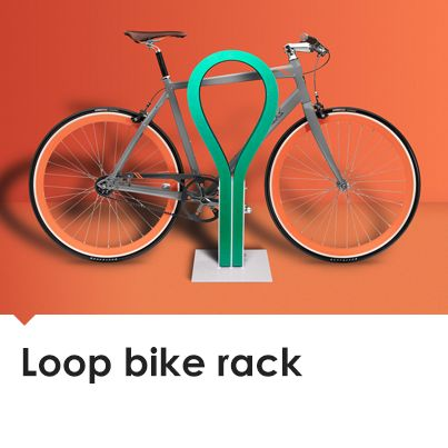 The colourful and innovative Loop bike rack concept is made of soft, flexible materials that won't scratch bikes, but will help keep them secure from theft. Its designers are seeking councils to trial their racks in a real-world environment.