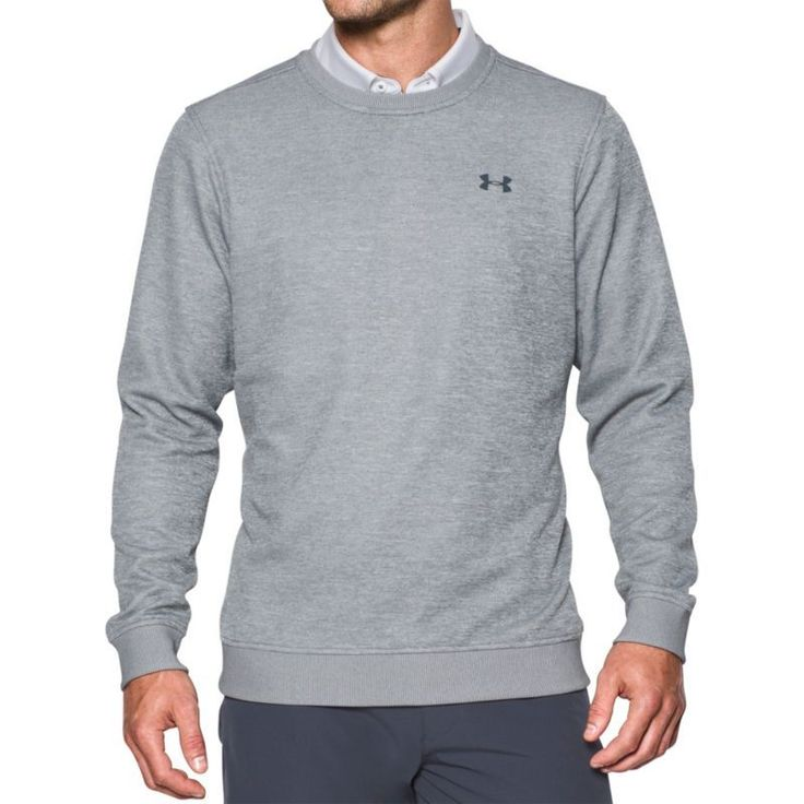 Under Armour Men's Storm Crew Neck Golf Sweater, Size: Medium, Gray