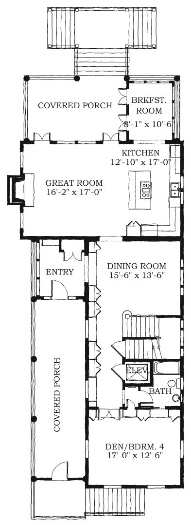 Allison Ramsey Architects Floorplan For Marshview 3044