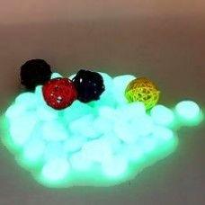 Foszforeszkáló kavics - sötétben világító dekor kavicsok, kövek - akváriumba, kertbe, virágládába, ajándékba