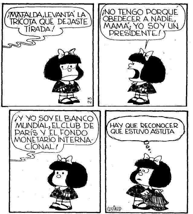 Mafalda y su mamá. Así es q nos ganan!!