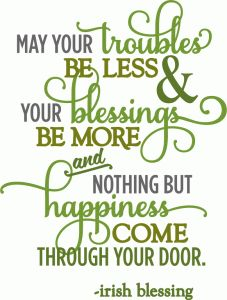 Silhouette Online Store - View Design #55496: troubles be less irish blessing - layered phrase