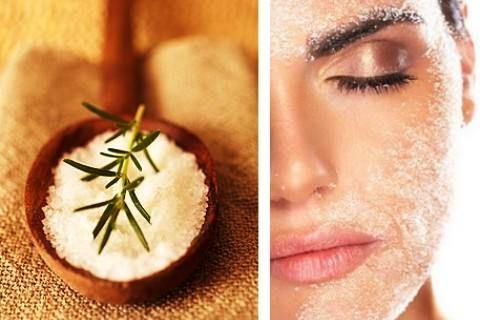 Пилинг лица с помощью соли. Рецепты