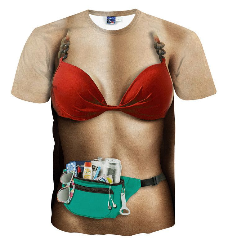 3D new t-shirt both side print tees assorted styles